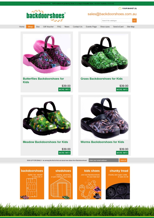 Backdoorshoes range of waterfproof gardening shoes